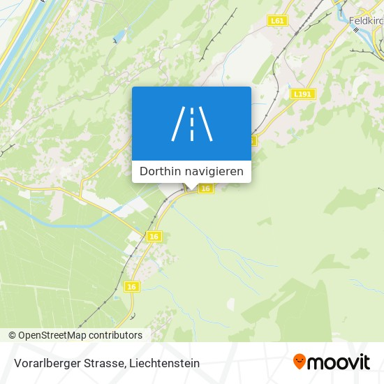 Vorarlberger Strasse Karte