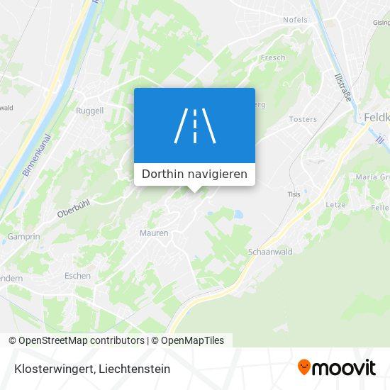 Klosterwingert Karte