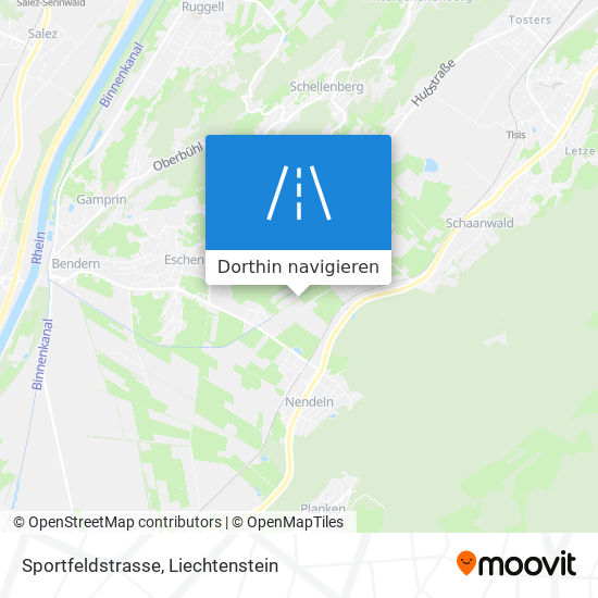 Sportfeldstrasse Karte