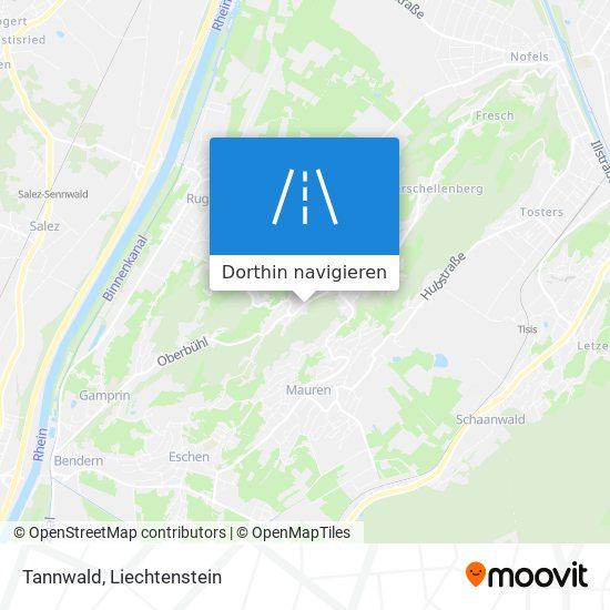 Tannwald Karte