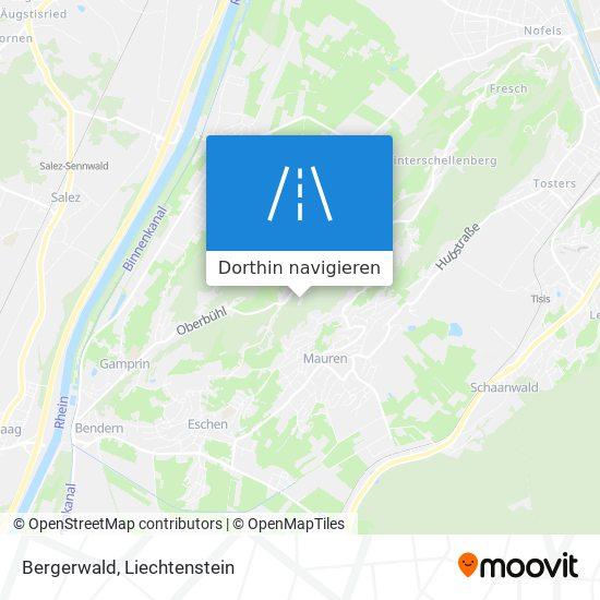 Bergerwald Karte