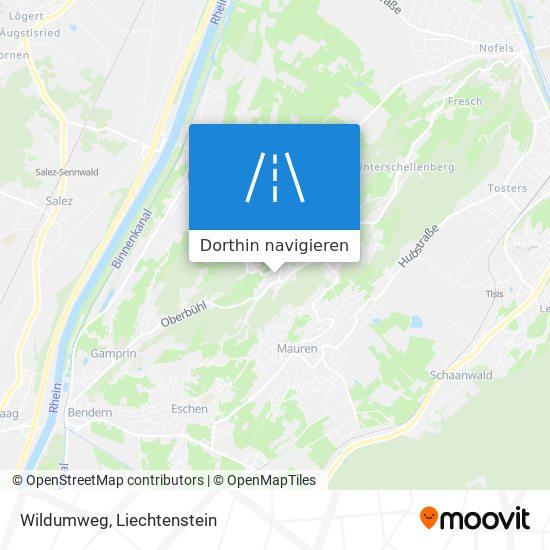 Wildumweg Karte