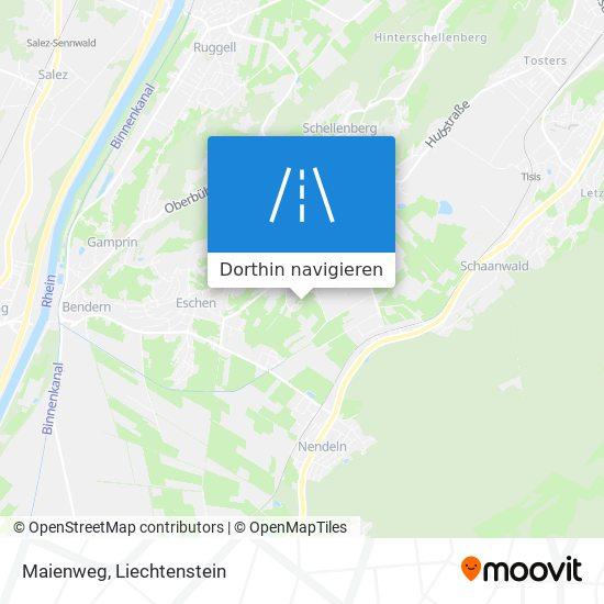 Maienweg Karte