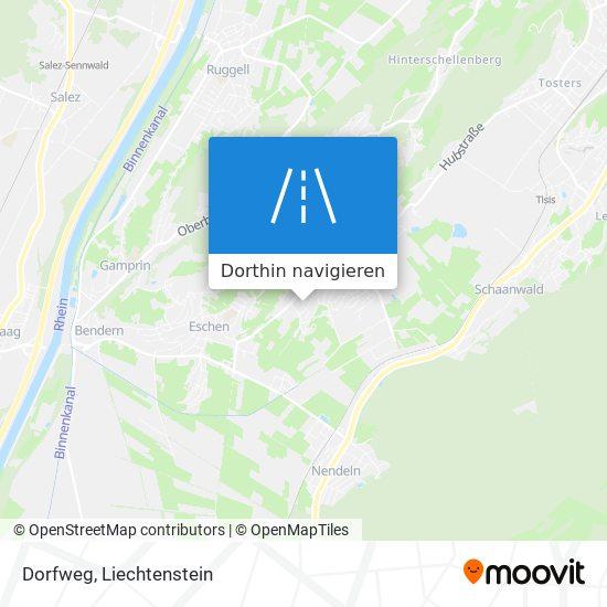 Dorfweg Karte