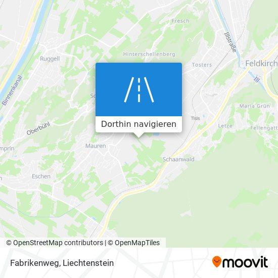Fabrikenweg Karte