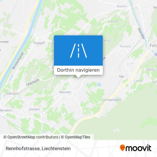 Rennhofstrasse Karte