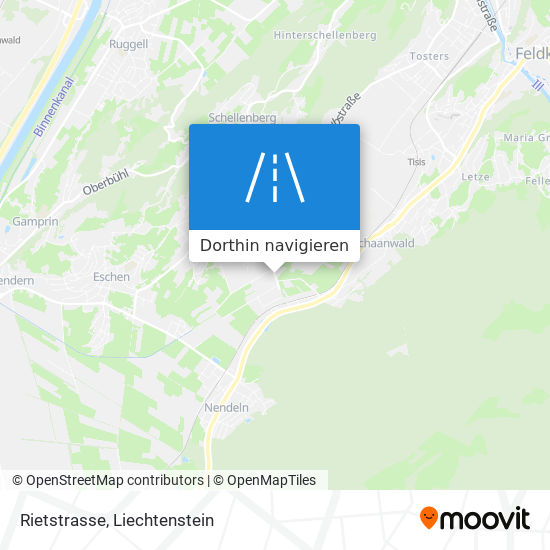 Rietstrasse Karte