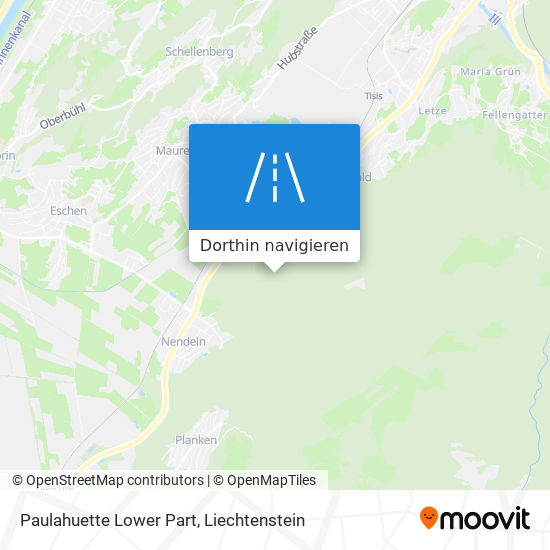 Paulahuette Lower Part Karte