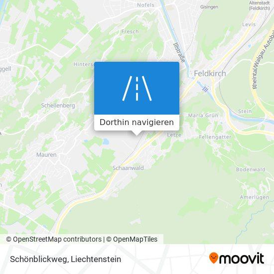 Schönblickweg Karte
