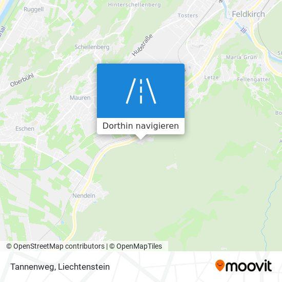 Tannenweg Karte