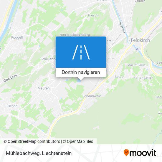 Mühlebachweg Karte