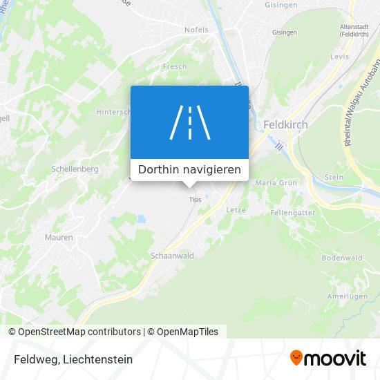 Feldweg Karte