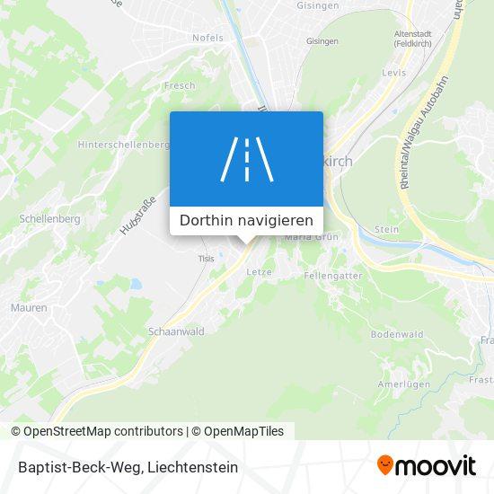 Baptist-Beck-Weg Karte