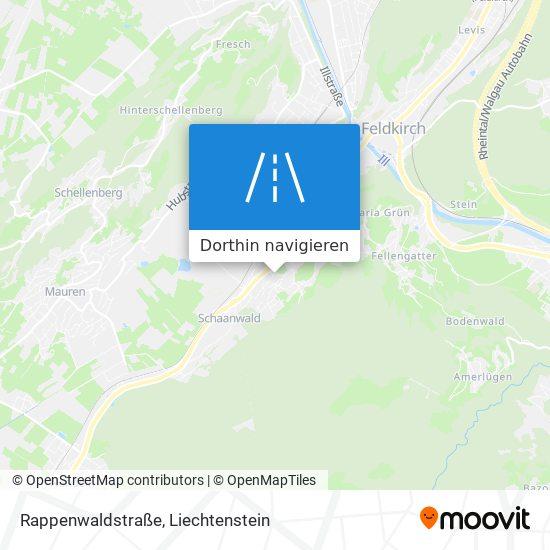Rappenwaldstraße Karte