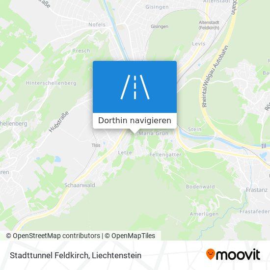 Stadttunnel Feldkirch Karte