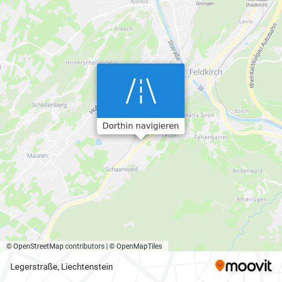 Legerstraße Karte