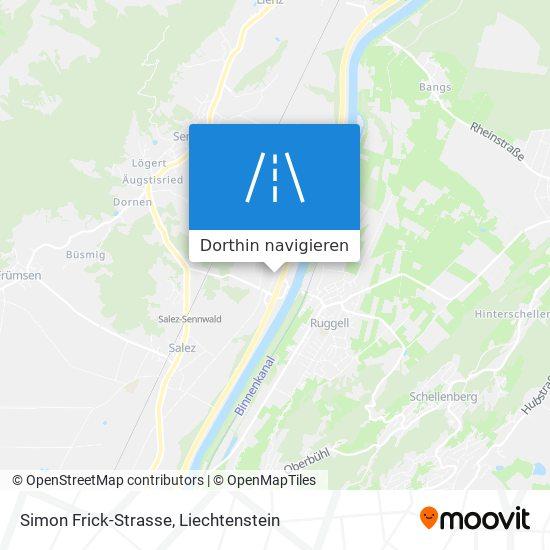 Simon Frick-Strasse Karte