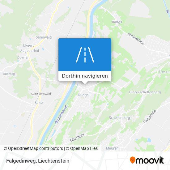 Falgedinweg Karte