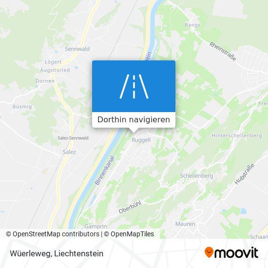 Wüerleweg Karte