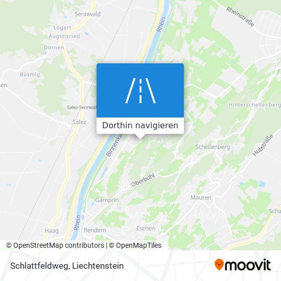 Schlattfeldweg Karte