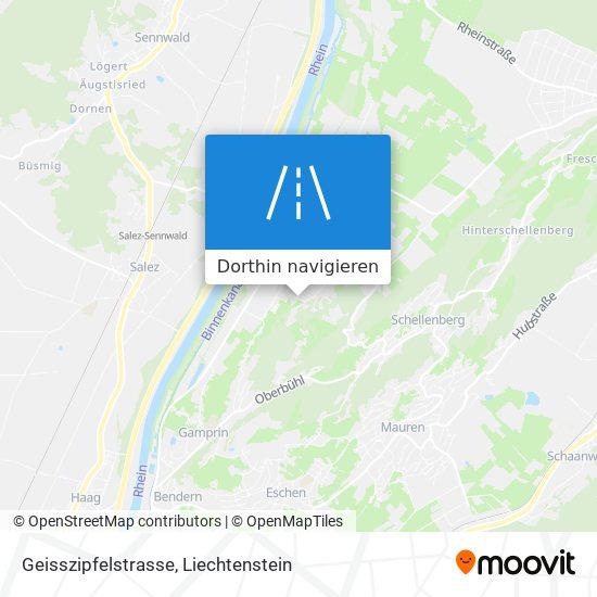 Geisszipfelstrasse Karte
