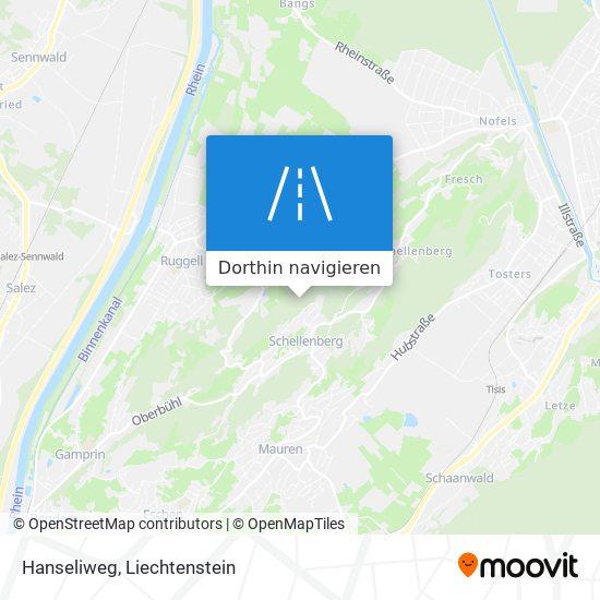 Hanseliweg Karte