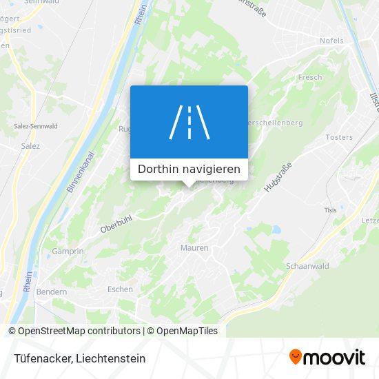 Tüfenacker Karte