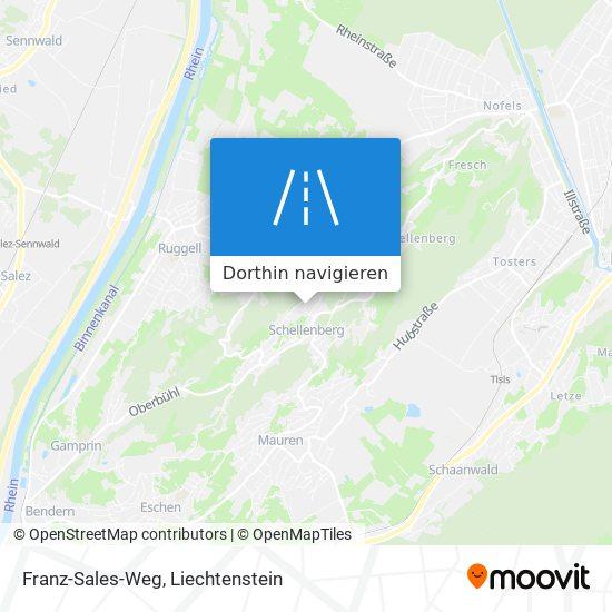 Franz-Sales-Weg Karte