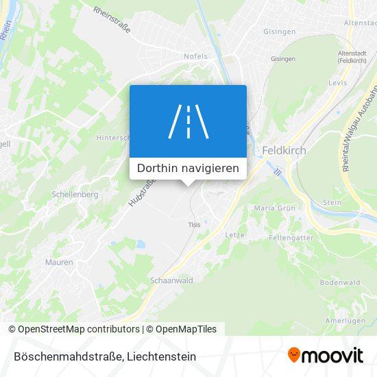 Böschenmahdstraße Karte
