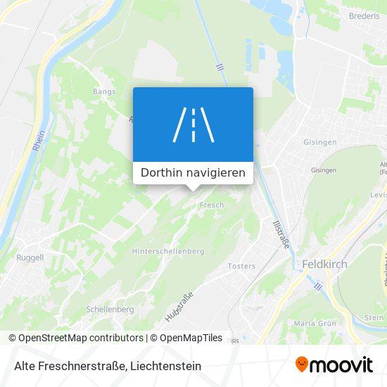 Alte Freschnerstraße Karte