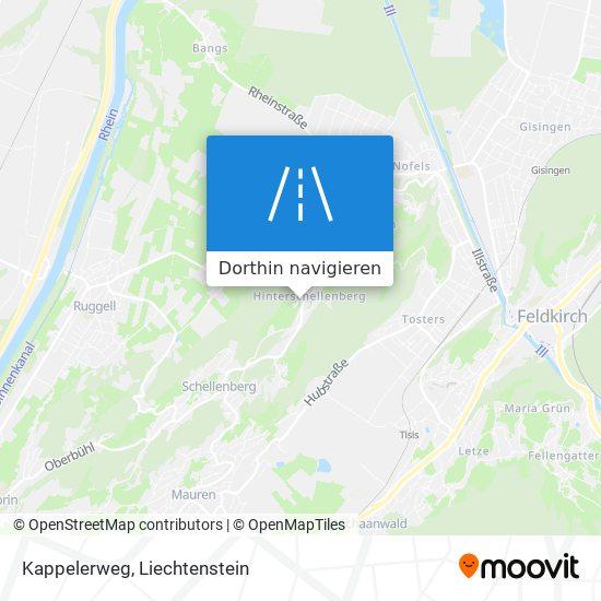 Kappelerweg Karte