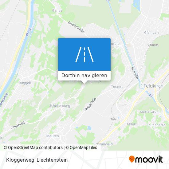 Kloggerweg Karte