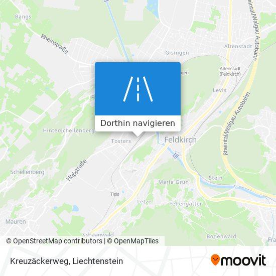 Kreuzäckerweg Karte