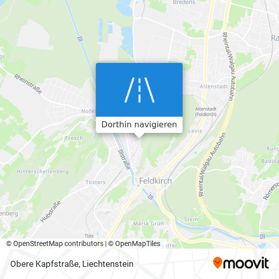 Obere Kapfstraße Karte