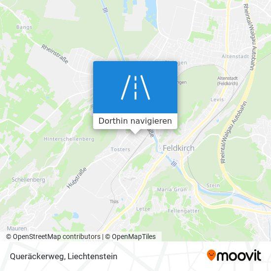 Queräckerweg Karte