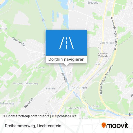 Dreihammerweg Karte