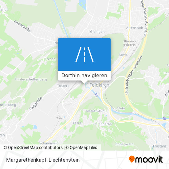 Margarethenkapf Karte