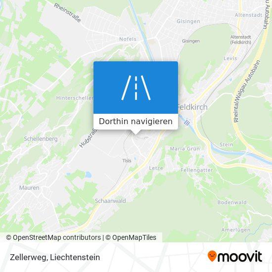 Zellerweg Karte