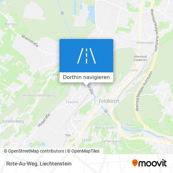 Rote-Au-Weg Karte