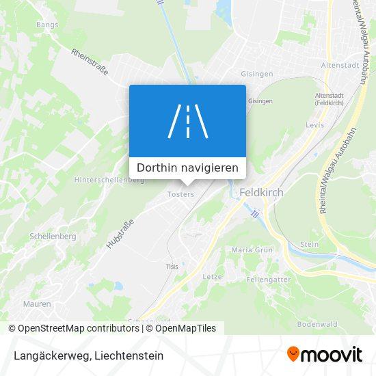 Langäckerweg Karte