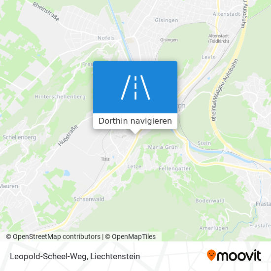 Leopold-Scheel-Weg Karte