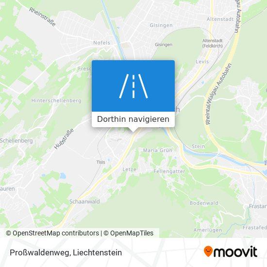 Proßwaldenweg Karte
