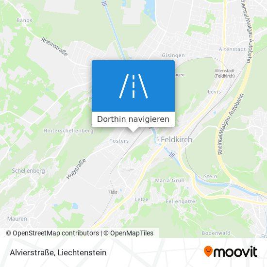 Alvierstraße Karte