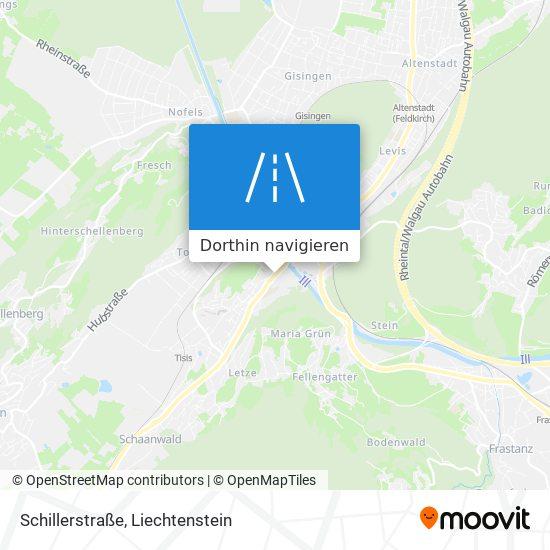Schillerstraße Karte