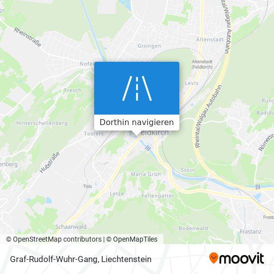 Graf-Rudolf-Wuhr-Gang Karte