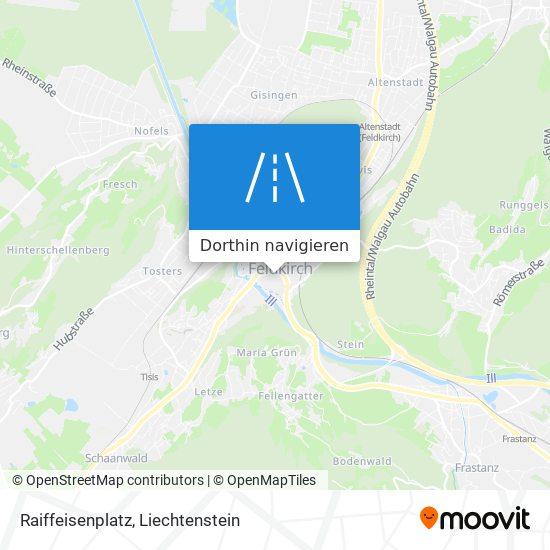 Raiffeisenplatz Karte