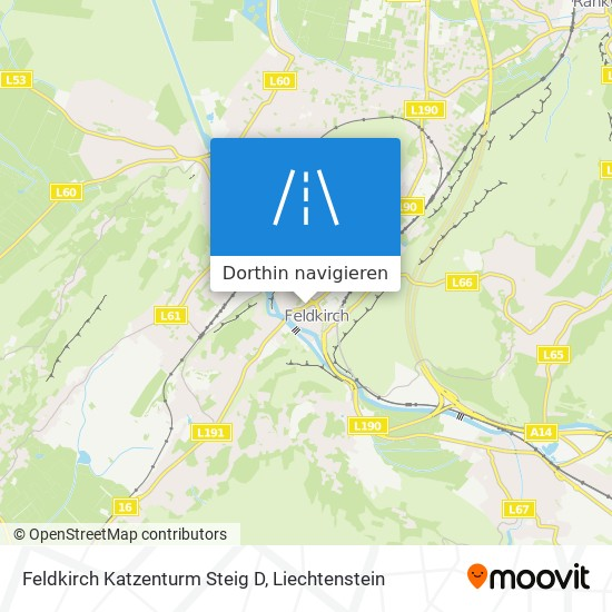 Feldkirch Katzenturm Steig D Karte
