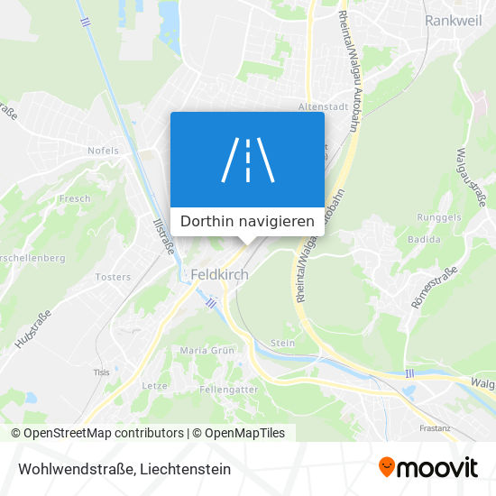 Wohlwendstraße Karte