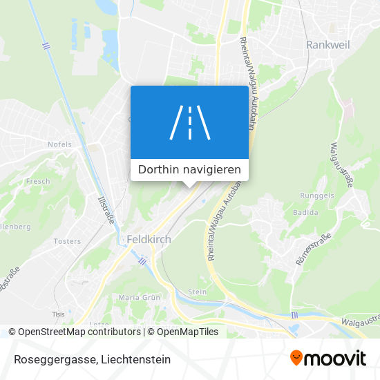 Roseggergasse Karte
