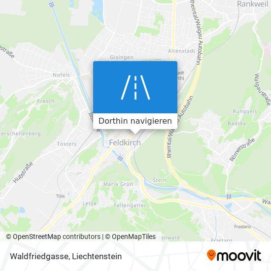 Waldfriedgasse Karte